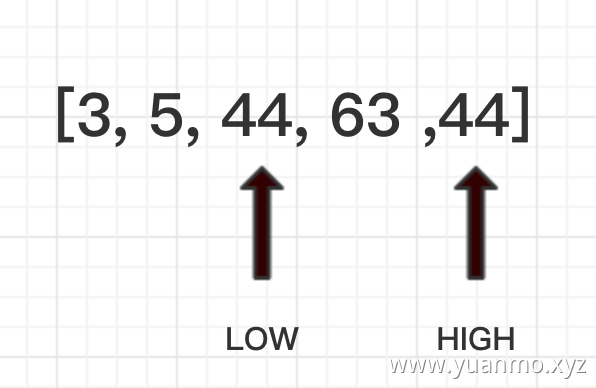 high指针改写low指针所指向的值